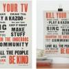 Aardvark Manifesto letterpressed print