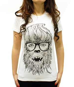 Hipster Werewolf T-shirt