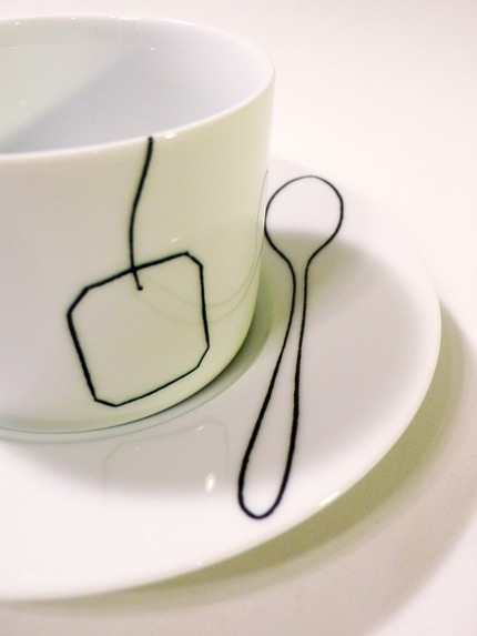 Teabag Teaspoon Cup and Saucer First Edition