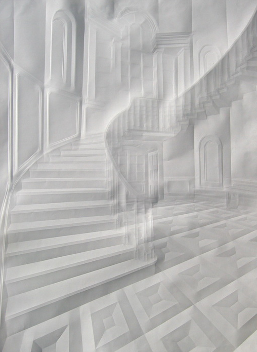 Creased paper art