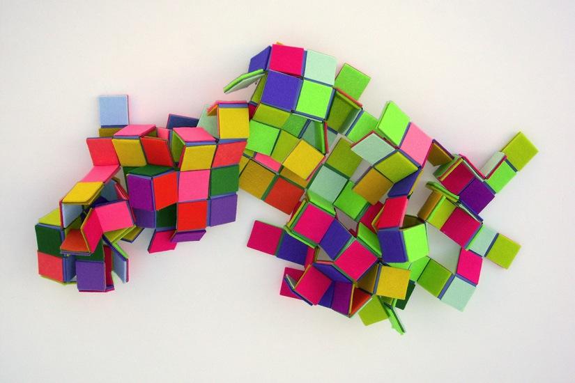 Sarah Applebaum Geometric Felt fabric