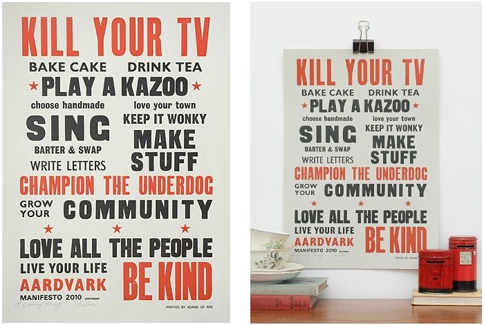 Aardvark Manifesto poster