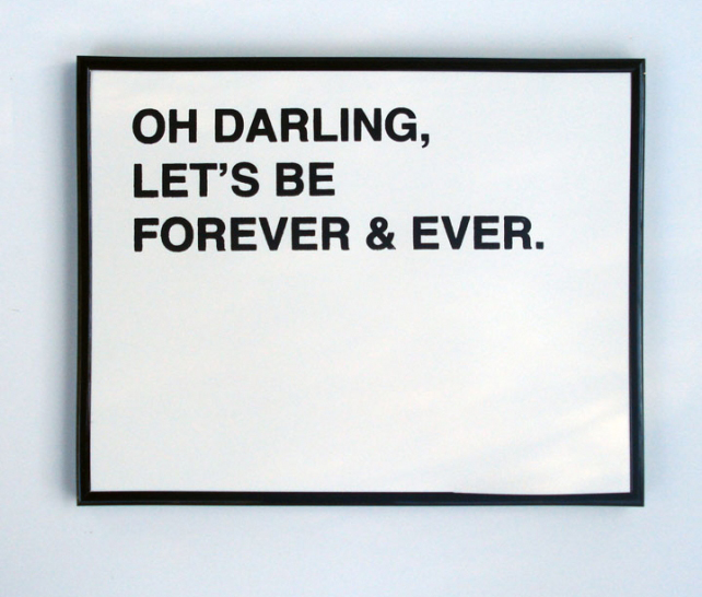 Darling Let's be Forever print