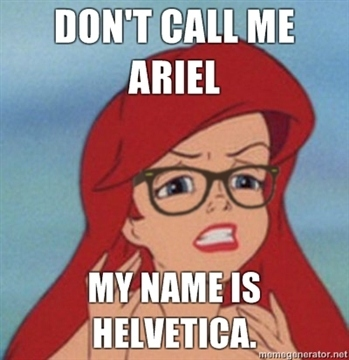 Hipster Ariel helvetica