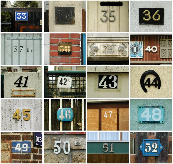 Troyes Street Numbers Dec. 2006